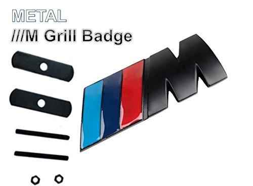 ///M Metall 3D Grill Badge Schwarz Tec Power Sport Emblem Aufkleber - Emblem Badge