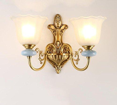 *applique murale interieur Lampes murales simples - Couloirs d'intérieur et d'extérieur Murs Walkway conduit tous les abat-jour en verre de cuivre Corridor Creative luminaires décoratifs (15 cm * 36 c