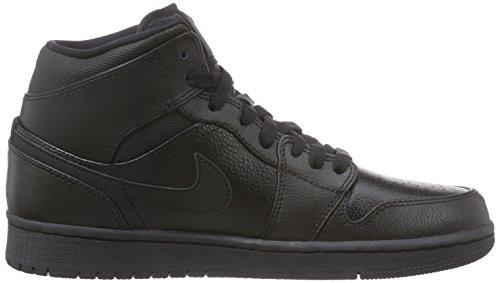 Nike  Air Jordan 1 Mid, Baskets pour homme Schwarz Noir