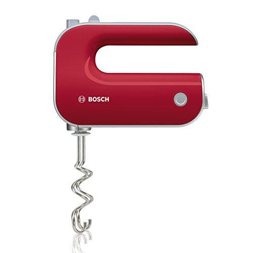 Bosch Styline MFQ40303 - Batidora de repostería, 500 W, 5 velocidades y función Turbo, varillas batidoras y garfios amasadores, color rojo y gris