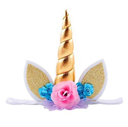 Einhorn-Stirnband Party Kind für Geburtstag, Babyparty, Cosplay, Kostüm, -