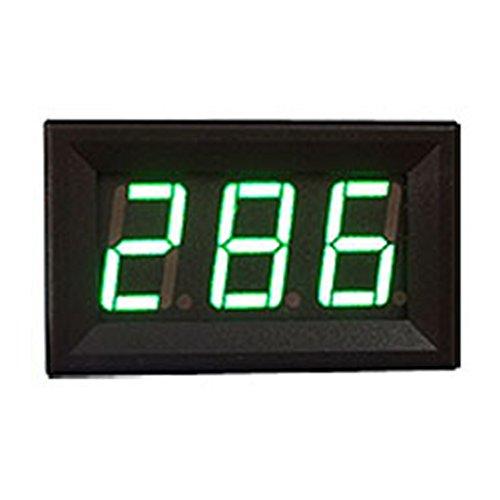 Mini-Voltmeter DC 5 V-120 V LED 3-digital Display Panel Spannungsmesser 2-Draht Verkauf, grün -