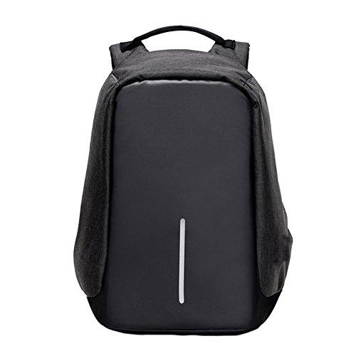 LILICAT Unisex Herren Business Laptop Backpacks Nylon Damen Laptop Canvas Taschen Mode Schultaschen Anti Diebstahl Wasserdicht beständig Reisetasche Rucksack für Notebook 14 Zoll - 17 Zoll (Schwarz) (Canvas-sommer-tote)