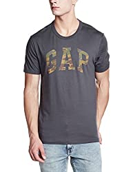 92a411d72f 50%off GAP Mens Regular Fit T-Shirt (148569600009_85032070801_Soft  Black_X-Small)