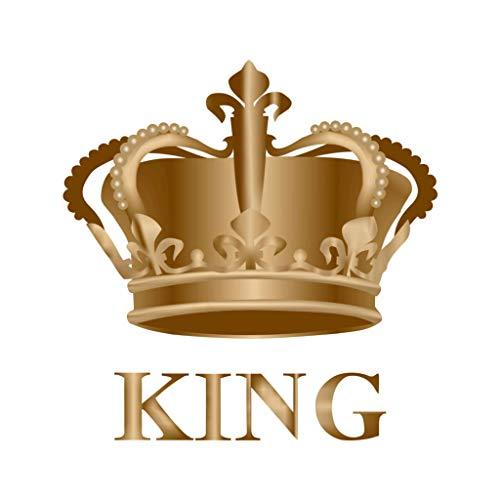 TENNER.LONDON Königskrone zum Aufbügeln, Siebdruck, Stoff-Applikation, maschinenwaschbar, Transfer Royal King Crown