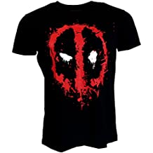 Marvel Comics Deadpool Splat Icon Black T-shirt Official Licensed Movie