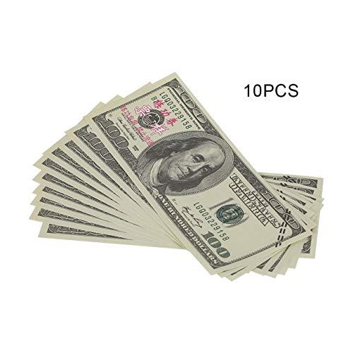 10 TEILE/SATZ Amerikanische Goldfolie Dollar Banknote Gefälschte Geld Kunsthandwerk Hoch Sammlung Kunsthandwerk Liefert Geschenk JBP-X