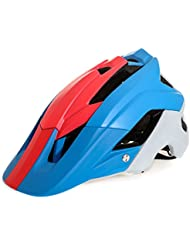 Casco Ciclismo Ultra Ligero Al Aire Libre Casco Casco De Ciclismo Casco Ciclismo De Seguridad De Motor Capacetes,Blue+Red+White-OneSize