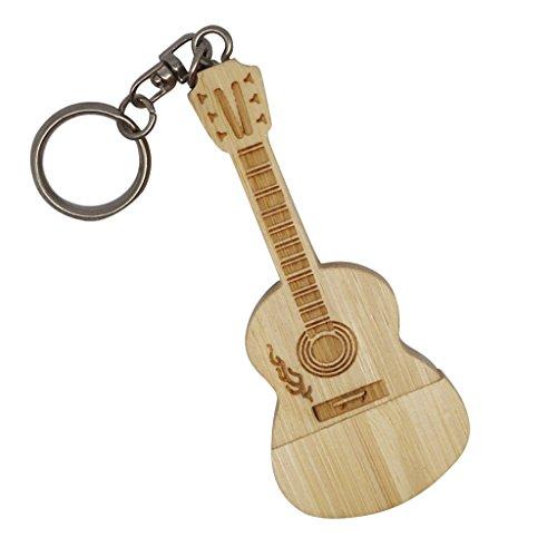 MagiDeal USB 2.0 Memoria Flash Stick Pen Disco De Almacenamiento de Forma Guitarra de Moda Accesorios - 32GB