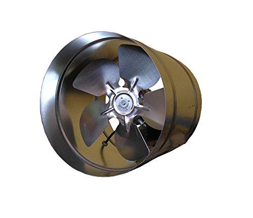 Industrielle Abluftventilator (Verzinktem Stahl Industrie Inline Abluftventilator 160mm gewerblichen industriellen Auspuff Ventilator Luftführung Rohr Lüfter vko160)