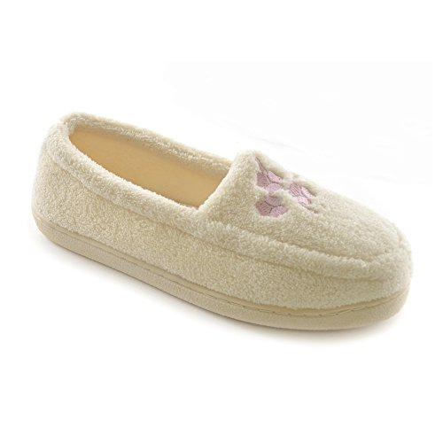 Pantofole Invernali In Pile a Mocassino - Donna Crema