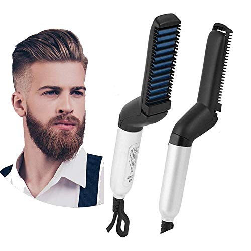 TECHICON Ultra Class Electric Beard/Hair Straightener Care Comb Multifunctional Curly Hair Straightening Curler For DIY Flexible Modelling