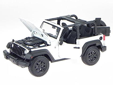 Jeep Wrangler 2014 offen weiss Modellauto 31610 Maisto