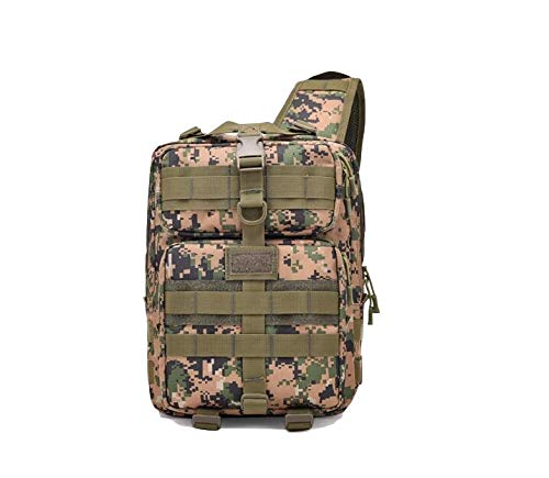 Weekender Cross Body (WEILIVE Outdoor-Tasche für Herren, multifunktional, Outdoor-Sport, Crossbody-Tasche Tactical Chest Bag Fashion Shoulder Messenger Rucksack (Dschungel-Camouflage) Weekender Bag)