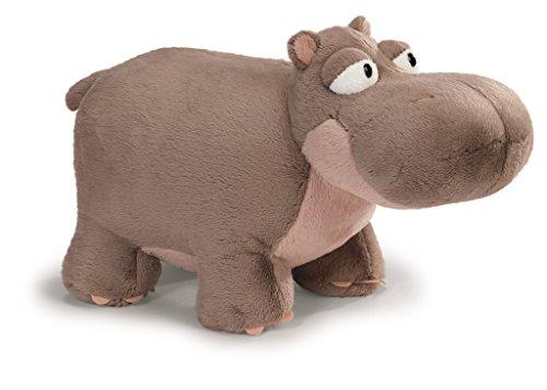 NICI - Peluche Hipopótamo Balduin 20 cm de pie, Color Marron Claro/Rosa (38633)