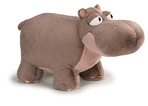 NICI - Peluche Hipopótamo Balduin 30cm de pie, Color Marron Claro/Rosa (38635)