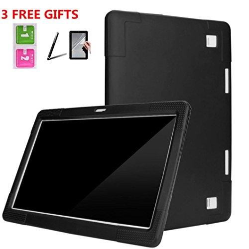 samLIKE 丨 Universal Case Cover 丨 für 10 / 10.1 Zoll Android Tablet ✚ Touchscreen-Stift ✚ Schutzfolie 丨 Silikon-harter Hülle 丨 230-245mm(Länge) x 155-175mm(Breite)丨 Hülle Case 丨【Die beste Wahl für dein Tablet 】 (⭐️ Schwarz) - Android Tablet-ladegerät Universal