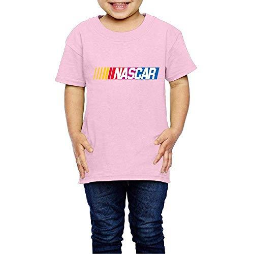 Solid-footed Sleeper Pajamas (Kinder Jungen Mädchen Shirts NASCAR T Shirt Kurzarm T-Shirt Für Tollder Jungen Mädchen Baumwolle Sommer Kleidung Rosa 3 T)