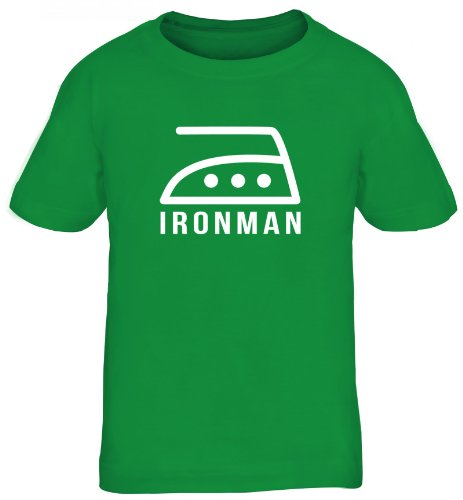 Shirtstreet24, Ironman, Kids Kinder Fun T-Shirt Shirts, Größe: 152/164,Kelly Green