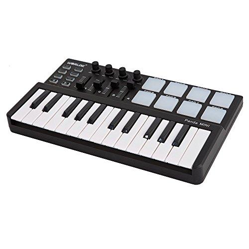 ammoon MIDI Controllore mini Portabile Mini 25-Tasti USB Tastiera e Rilievo del Tamburo Worlde Panda (Type A)