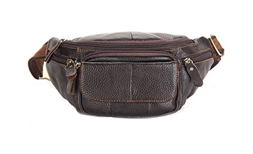 orrinsports-waist-bag-pack-leather-with-5-zippers-adjustable-waist-bag-pack-for-sports-leisure-brown