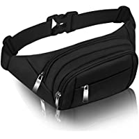 CAMORF Bumbags and Fanny Packs for Women Men Large Capacity Waist Pack 4 Pockets - Waterproof Running Belt Fits MAX 7.9'' iPad & 6.6'' Cellphone iPhone