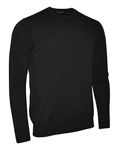 Glenmuir Morar Lambswool Rundhals Pullover - Black - M (Lambswool Rundhals-pullover)