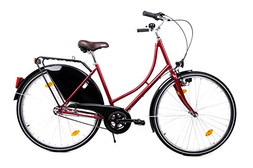 "28\"" Zoll Holland Fahrrad MIFA City Bike Shimano 3 Gang Nexus rot Rücktrittbremse"