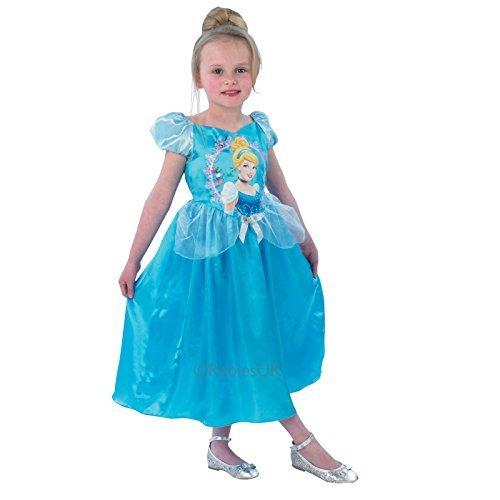 Girls Cinderella Rubine Princess Story Time Kids Kostüm  M - 5-6 (A Christmas Kostüme Story)