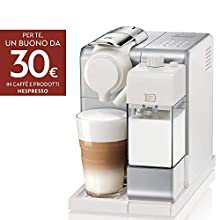 De'Longhi EN560.S Nespresso Lattissima Touch Animation Macchina da Caffè Espresso, Porzionato, Chiuso, 1400 W, 1 Cups, Plastica, Argento