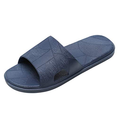 Produp Herren Damen zu Hause Drinnen PVC Hausschuhe Solide Fußboden Familie Schuhe Strand Sandalen -