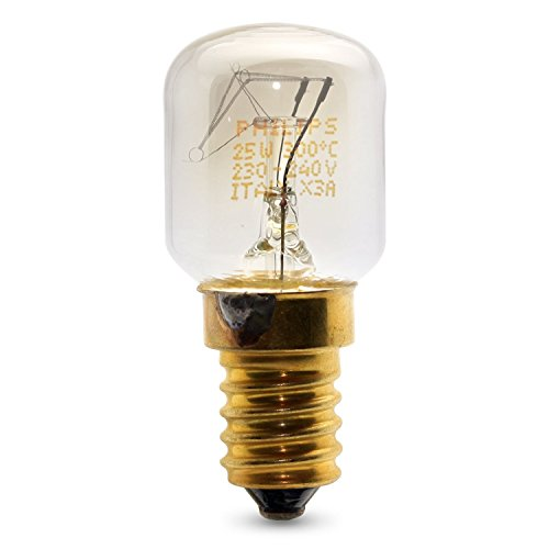 3 x PHILIPS 25w SES E14 Small Screw Cap Pygmy Lamps >300 Degree C Microwave / Oven Rated Light Bulbs Pack