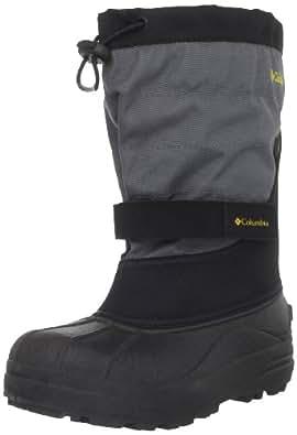 Columbia Unisex-Child Youth Powderbug Plus II Boots BY1302 Black/Intense Gold 13 UK Child, 32 EU, 1 US