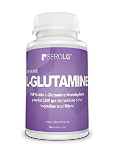 L Glutamine Powder Supplement 300 Grams Pharmaceutical Grade Unflavored, Super Fine