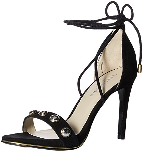 Kenneth Cole Damen Berry Stud Peeptoe Sandalen, Schwarz (Black), 37 EU - Lace-up Ankle High Sandal