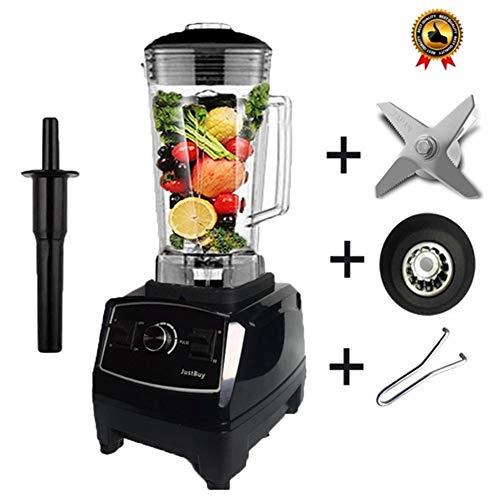 Licuadora Comercial De Alta Resistencia Sin BPA 2200W Mezclador Profesional Licuadora Procesador De Alimentos Japón Cuchilla Exprimidor Máquina De Batido De Hielo ( Color : Black full parts )