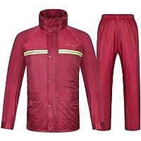 LVZAIXI poncho Hombres y mujeres adultos Impermeable dividido ( Color : Rojo , Tamaño : XXL )