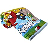 TRUSTFUL Angry Birds Cartoon Kids Design Print Single Bed Reversible AC Blanket | Dohar | Quilt | Comforter | Duvet (Polycotton, Multicolor)