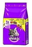 Whiskas Katzen-/Trockenfutter 1+ für Katzen mit Huhn, 1 Beutel (7 kg)