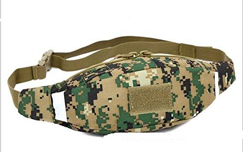 Zll/Outdoor Personal Taschen Running Herren und Frauen reiten Pocket Tactical Brust für Casual Reise Camo Handtaschen Jungle-Grün