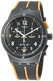 Swatch Herren Analog Quarz Uhr mit Silikon Armband SUSA402