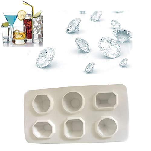 (TianranRT Diamanten Juwel Cool Eis Würfel Schokolade Seife Tablett Schimmel Silikon Fondant Formen)