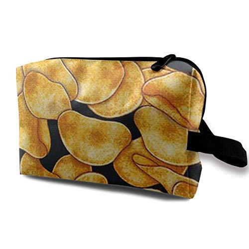 Kartoffelchips Kosmetiktaschen Aufbewahrungstasche Schminktasche Mit Bürstenbeutel Tragbarer Reißverschluss Brieftasche Handtasche Für Frauen Notwendig