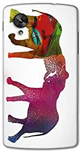 Timpax protective Armor Hard Bumper Back Case Cover. Multicolor printed on 3 Dimensional case with latest & finest graphic design art. Compatible with Google Nexus-5 Design No : TDZ-26900