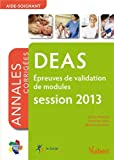 Epreuves de validation de modules DEAS : Annales corrigées session 2013
