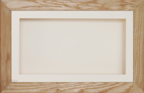Anika 7 x 13/13 x 18 cm-Cadre en bois de chêne massif avec Passe-Partout crème-dos &Verre 35,5 x 20,3 cm