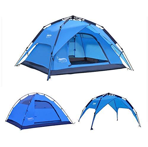Große Strandzelte Familien-Campingzelt Automatische tragbare Zelte Wasserdichter UV-Schutz Sonnenschutz Geeignet 3-4 Personen Outdoor Jagd Wandern Klettern Reisezelt-SkyBlue