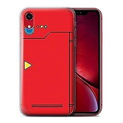Stuff4 Gel TPU Hülle/Case für Apple iPhone XR/Rot Muster/Anime Cartoon Kodex Kollektion
