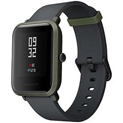 "Gshopper Reloj Inteligente, amazfit bip Juventud Edición GLONASS GPS Heart Rate Sport Fitness Tracker Reloj 1.28""Protector DE 32G de Peso IP68Impermeable 45day Espera, Mujer, Amazfit Bip, Verde"