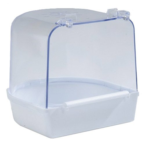 Beeztees 75011 Badehaus aus Plastik, groß, 13 x 13 x 13 cm, weiß